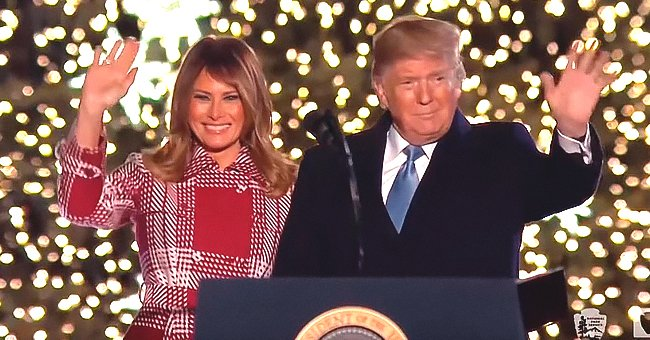 Melania & Donald Trump Mark Holiday Season by Lighting National Christmas Tree in Front of The White House