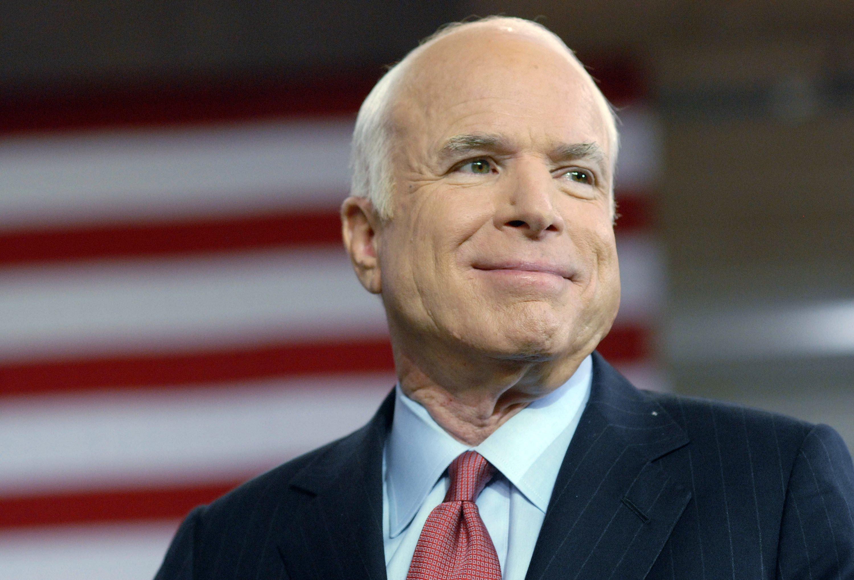 Late Senator John McCain at a Town Hall Meeting in York, Pennsylvania   Photo: Getty Images
