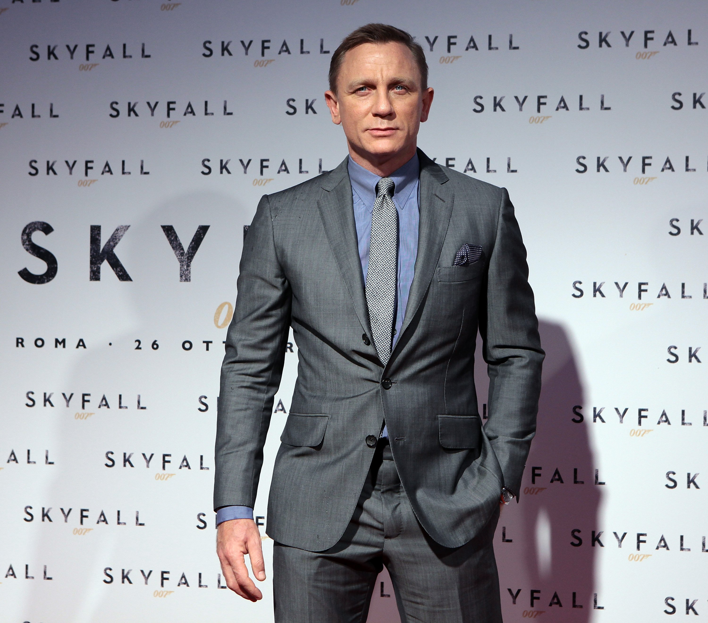 "Daniel Craig attends ""Skyfall"" Rome Premiere at Warner Cinema Moderno on October 26, 2012, in Rome, Italy. 