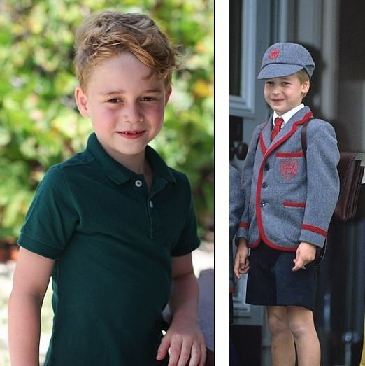 (Left) Prince George before his 6th birthday (Right) Prince William at the age of 7 in 1989 | Photos: Kensington Palace/Duchess Kate and Nils Jorgensen