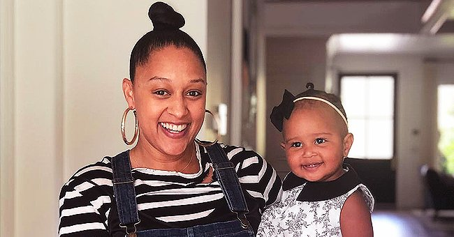 Tia Mowry from 'Sister, Sister' Melts Hearts as She Poses with Daughter Cairo in Matching Bonnets in Pic