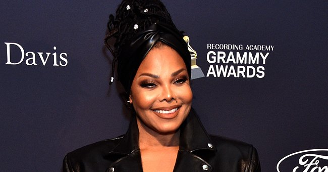 Janet Jackson Stunned in Long Black Leather Coat as She Hit Red Carpet at  Clive Davis' Pre-Grammy Party