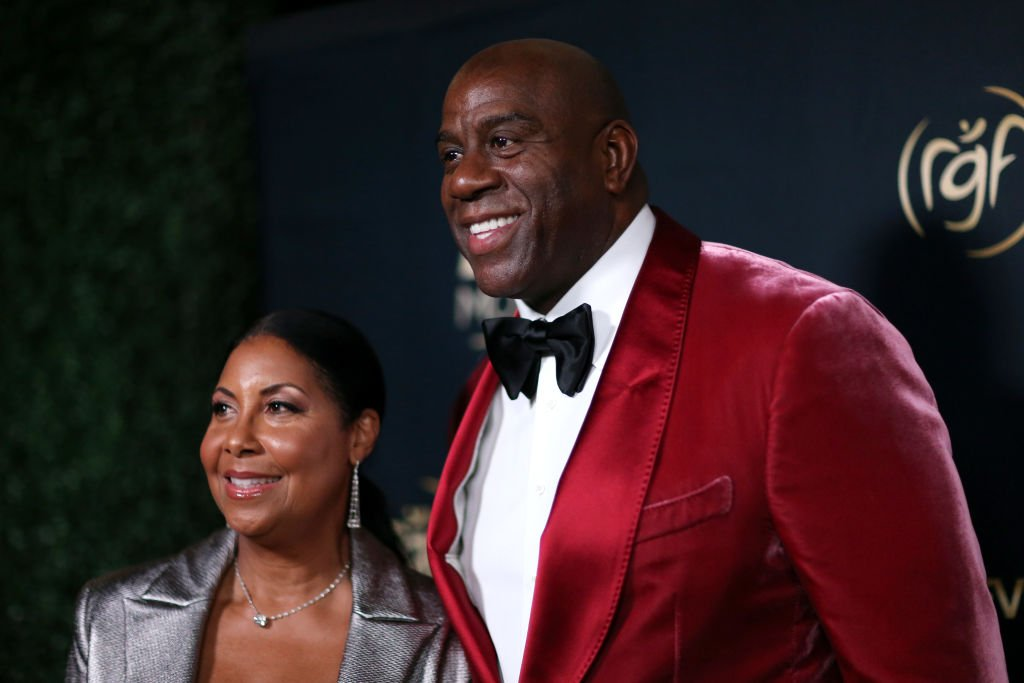 Magic and Cookie Johnson at the Ryan Gordy Foundation, November 2019   Source: Getty Images