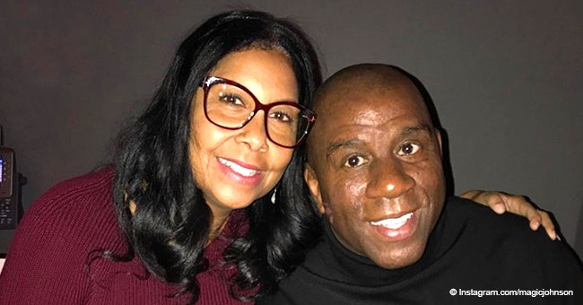 Magic Johnson melts hearts with sweet photos & loving message as wife Cookie turns 60