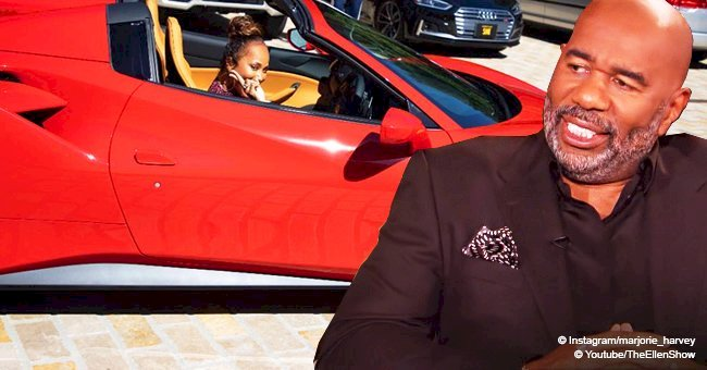 Marjorie Harvey shows off brand new red Ferrari reportedly gifted by husband Steve in recent pic
