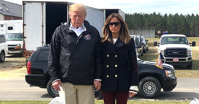 Melania Trump Photos from Alabama Tornado Visit Reignite Conspiracy Theories of Body Double