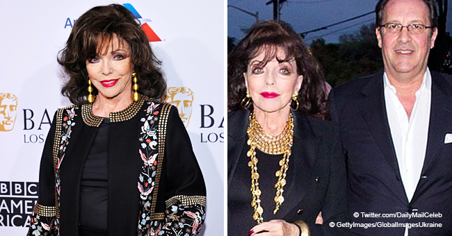 85-Year-Old Joan Collins Looks Radiant in an All Black Gorgeous Costume with Husband Percy Gibson