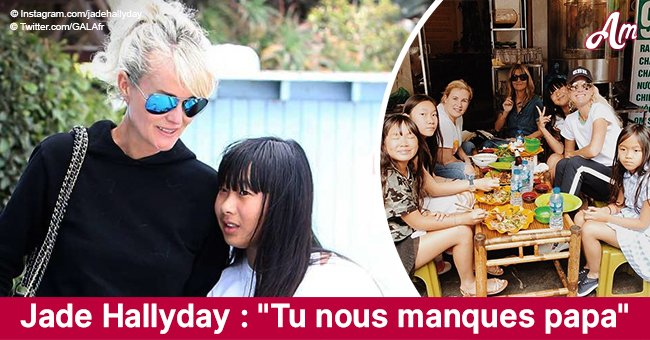 """Tu nous manques papa"": Noël sans papa, Jade Hallyday lui transmet un message"