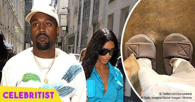 Kanye West wears oversized slippers after getting slammed over 'disrespecful' tiny Yeezy slides