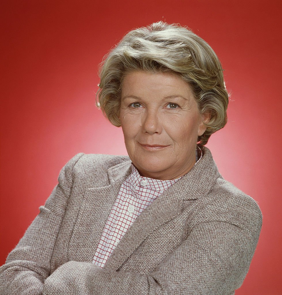 """A headshot of late Barbara Bel Geddes dressed in jacket in a promotional still of the American television series """"Dallas"""" on January, 1, 1979. 