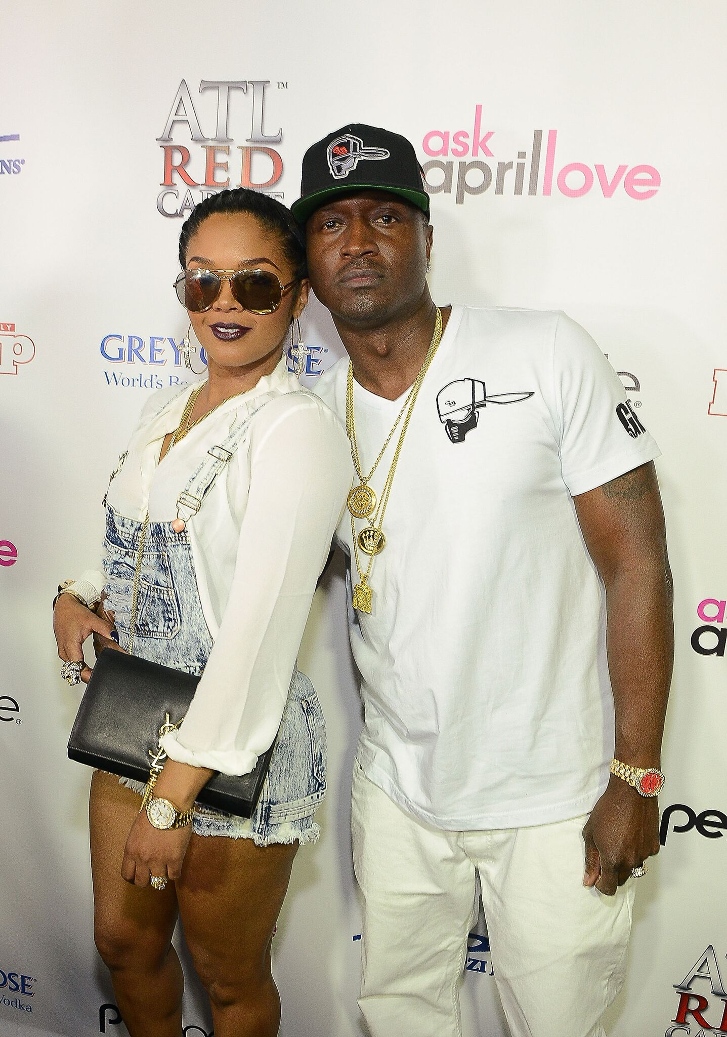 """Rasheeda and Kirk Frost attends the """"Love & Hip Hop: Atlanta"""" Season 3 Premiere Private Viewing Party at Suite Food Lounge 