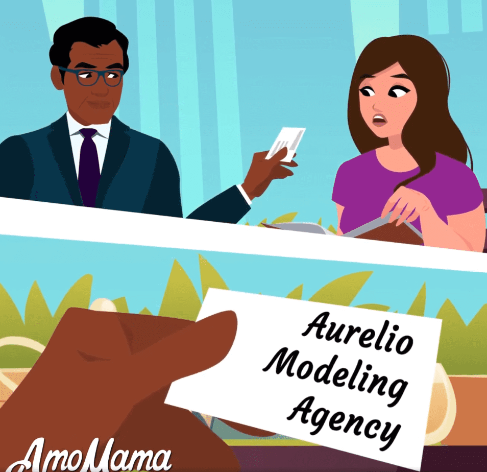Meeting an agent | Source: Facebook/ AmoMama