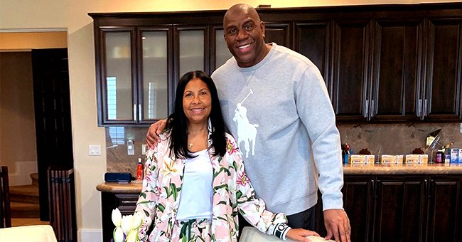 Magic Johnson's Wife of 28 Years Stuns in Floral Sweatsuit with Husband in Resurrection Day Photo