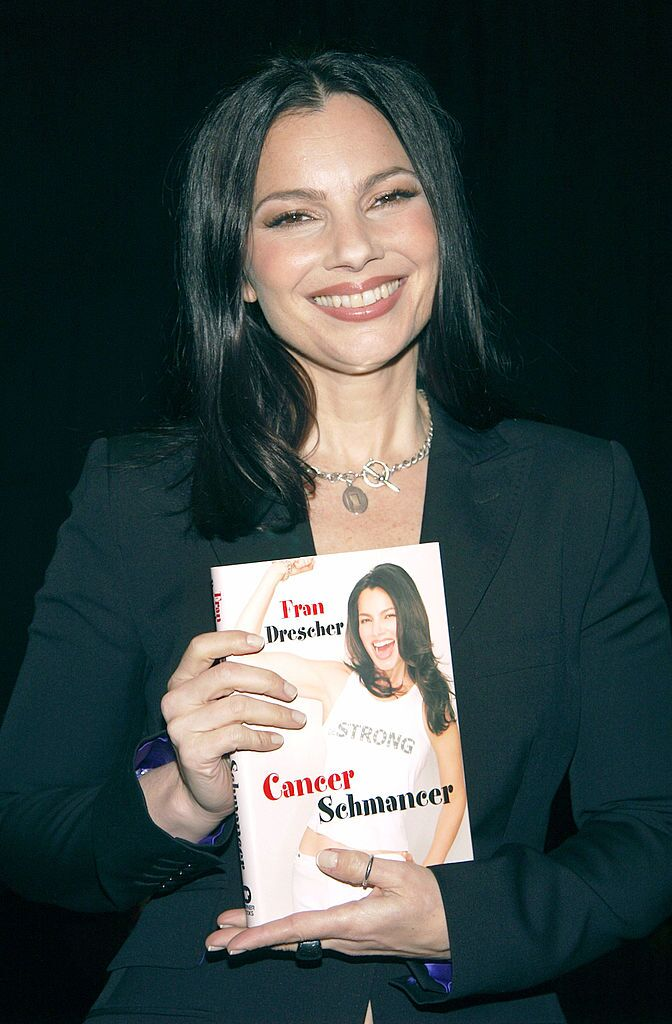 "Fran Drescher appears at a book signing for her latest book ""Cancer Schmancer,"" a memoir describing her recovery from cancer 