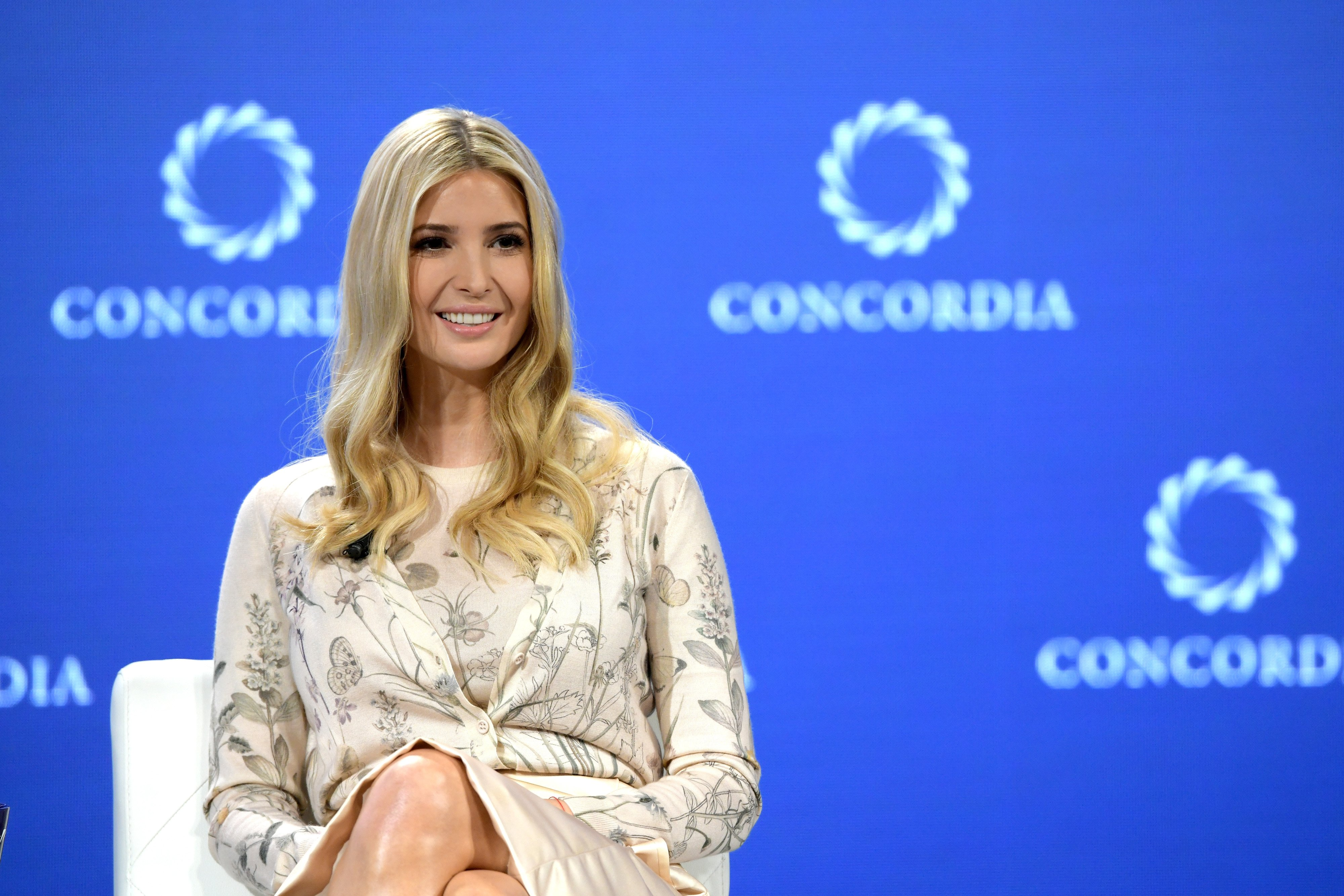 Ivanka Trump speaks onstage during the 2018 Concordia Annual Summit   Photo: Getty Images