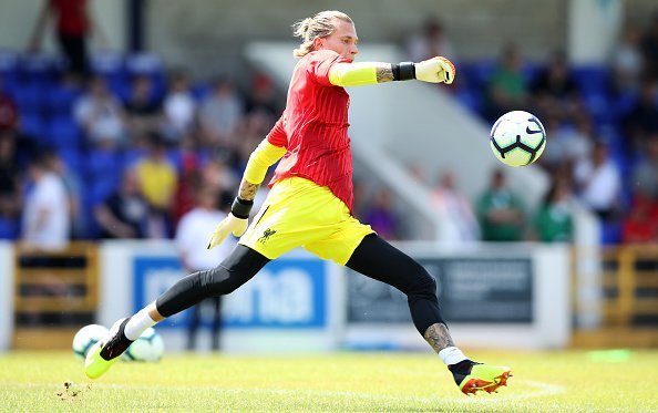 Loris Karius, im Spiel Chester FC vs Liverpool, 2018 | Quelle: Getty Images
