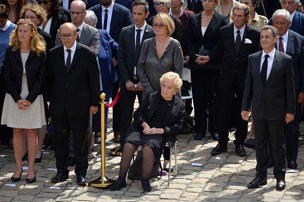 Bernadette Chirac assistent aux funérailles de Simone Veil à l'hôtel Des Invalides le 5 juillet 2017 à Paris | Photo : Getty Images