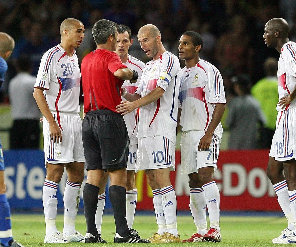 Zinedine ZIDANE a été expulsé après le coup de tête contre Marco Materazzi (Coupe du monde de football 2006, finale à Berlin: Italie - France 6 : 4) | Photo : Getty Images