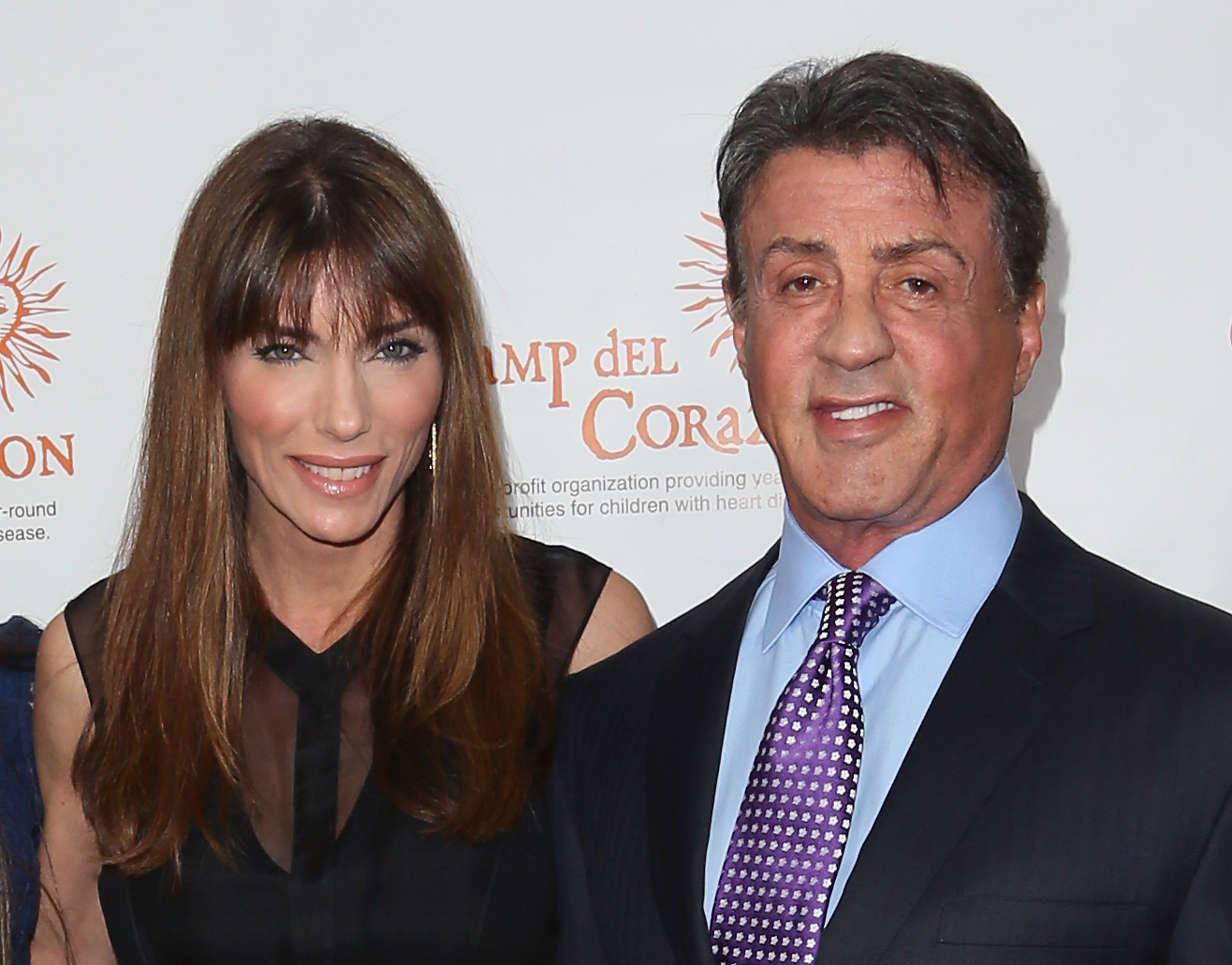 Sylvester Stallone and wife Jennifer Flavin at Camp del Corazon's 11th Annual Gala del Sol at the Ray Dolby Ballroom at Hollywood & Highland Center on April 19, 2014 | Source: Getty Images