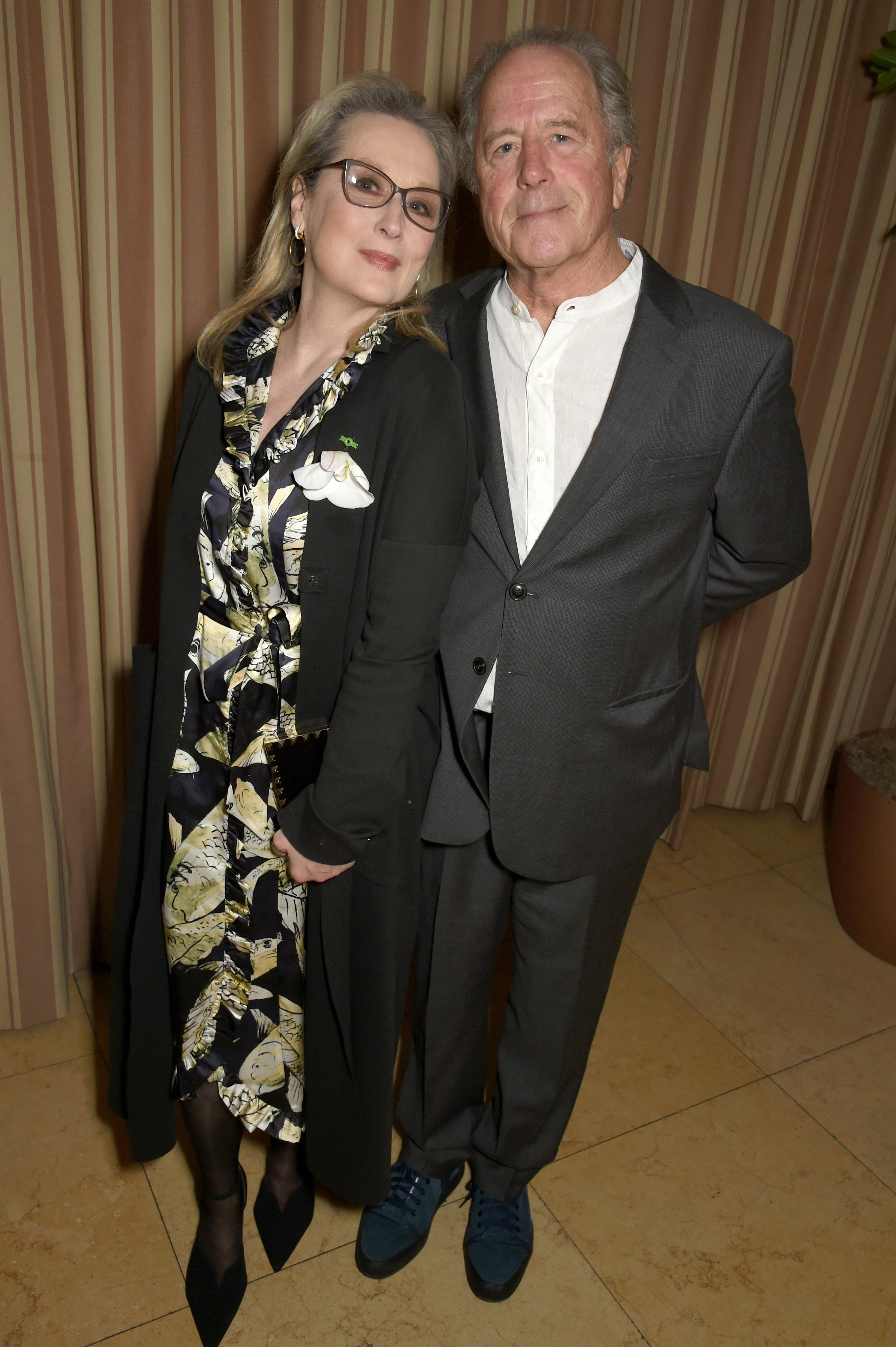 Meryl Streep and sculptor Don Gummer attend a dinner to celebrate The GCC and The Journey To Sustainable Luxury on February 24, 2017 | Photo: GettyImages