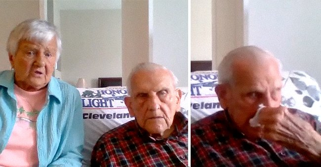 Photo of a veteran wiping tears off his eyes | Photo: facebook.com/Fox8NewsCleveland