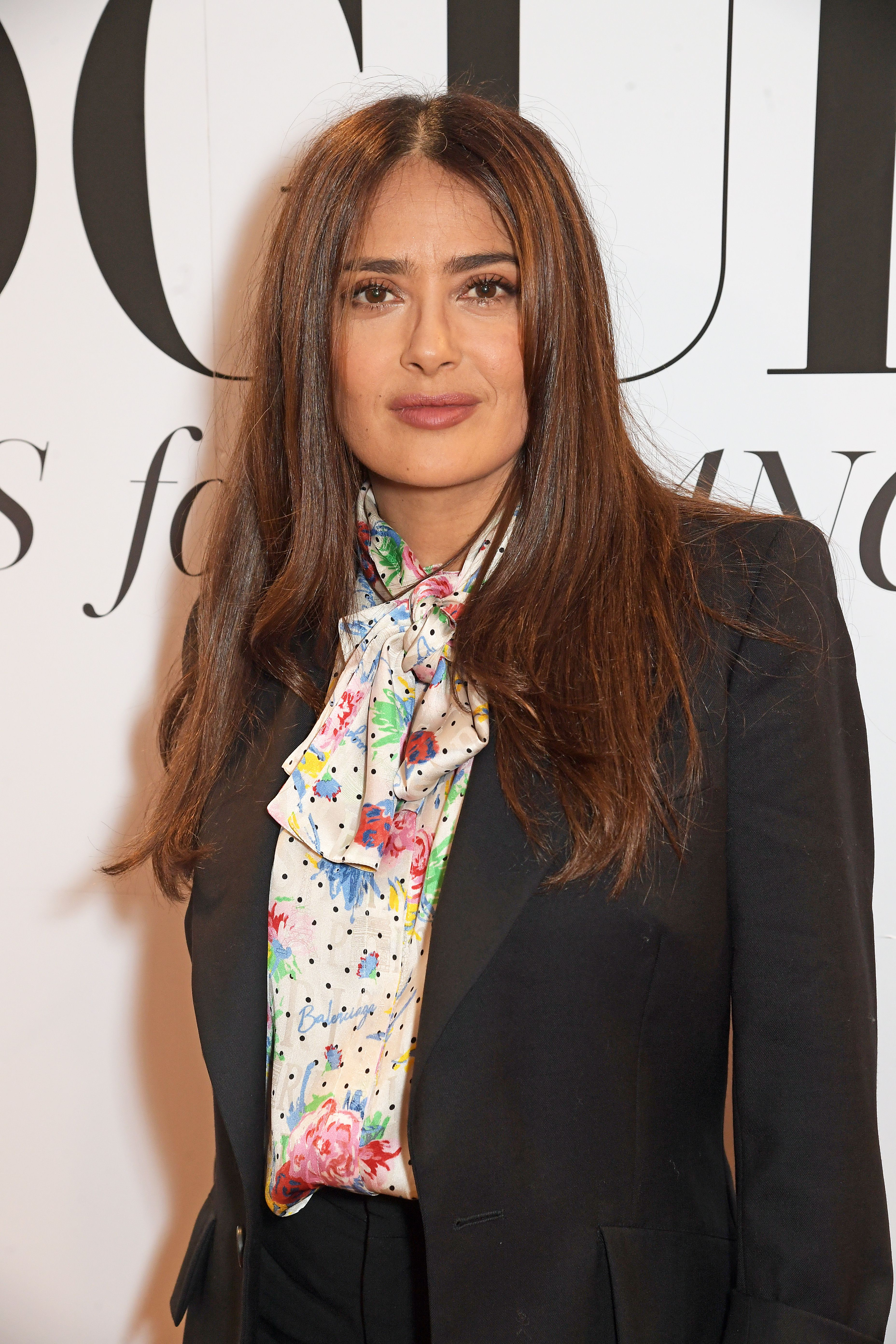 Salma Hayek at the  British Vogue's Forces For Change in London on March 7, 2020   Getty Images