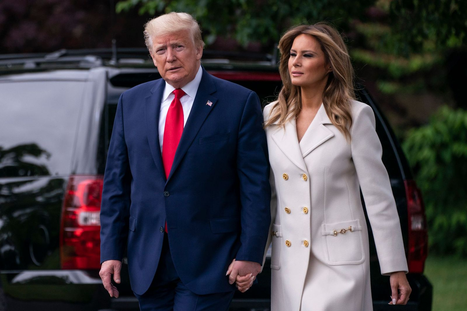 President Donald Trump and first lady Melania Trump leavethe White House for Baltimore, Maryland on May 25, 2020 in Washington, DC. | Photo: Sarah Silbiger/Getty Images