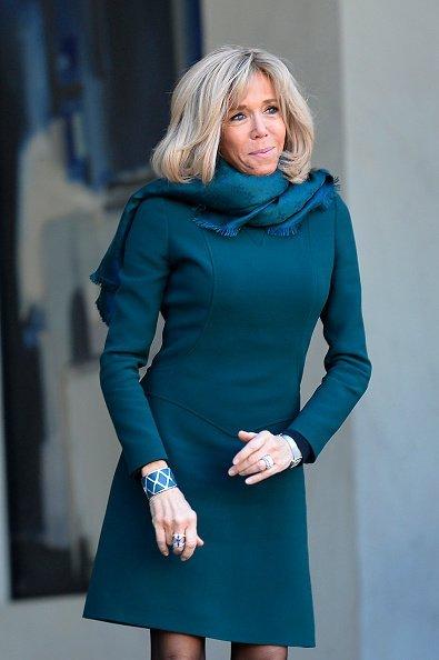 La première dame de France à l'Elysée à Paris   Photo / GettyImage