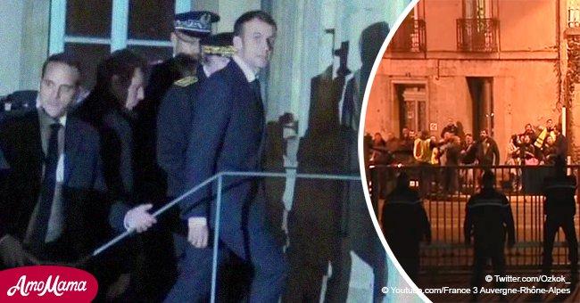 Les Gilets jaunes ont hué Emmanuel Macron lors de sa visite nocturne au Puy-en-Velay (vidéo)