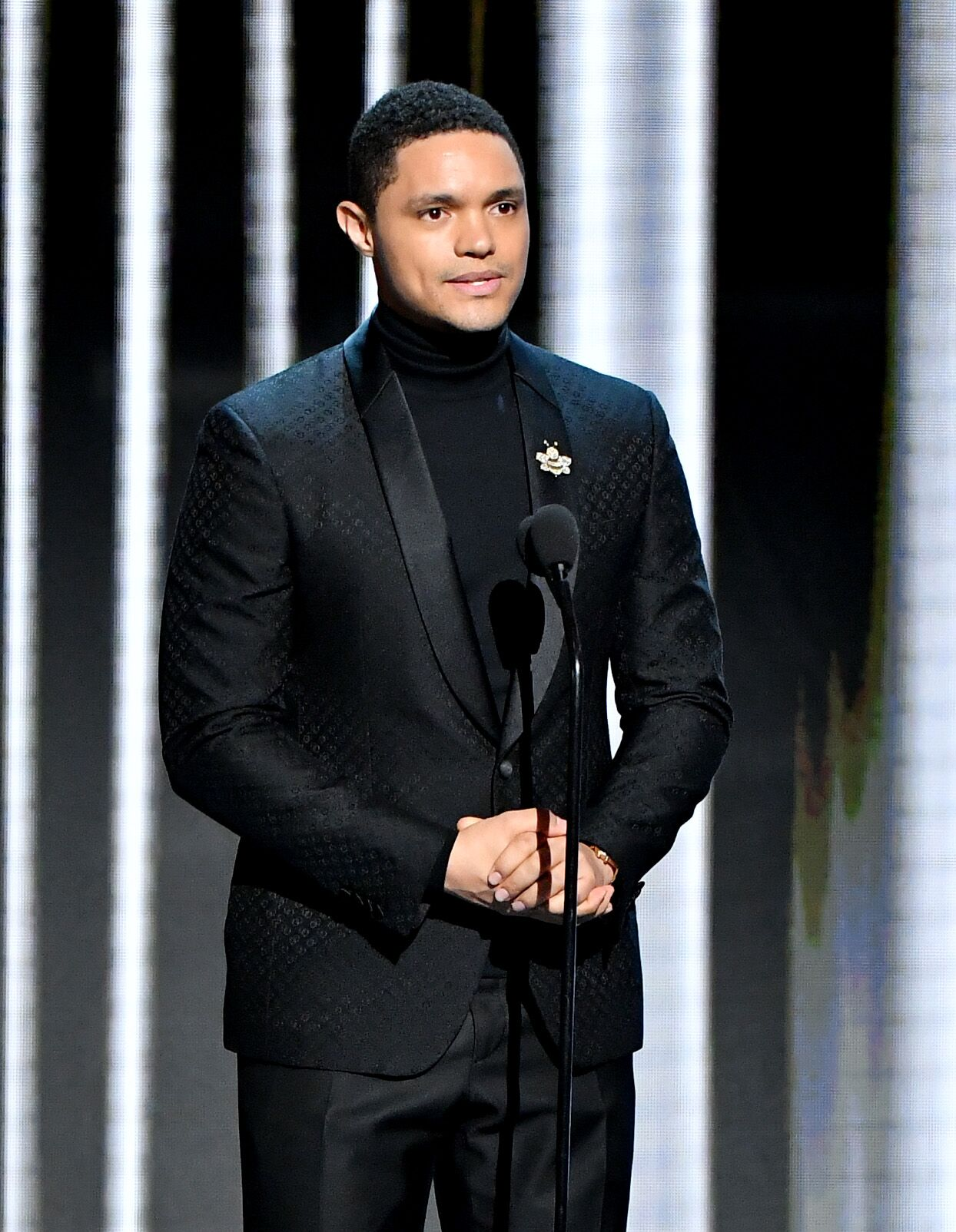 Trevor Noah onstage at the 50th NAACP Image Awards in 2019 in Hollywood | Source: Getty Images