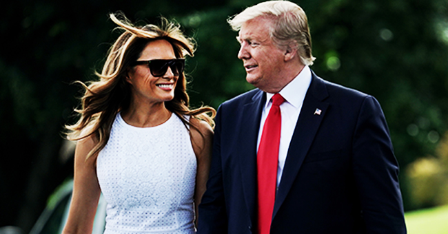 Melania and Donald Trump Head to Orlando, Florida Hand-In-Hand for the Re-Election Rally