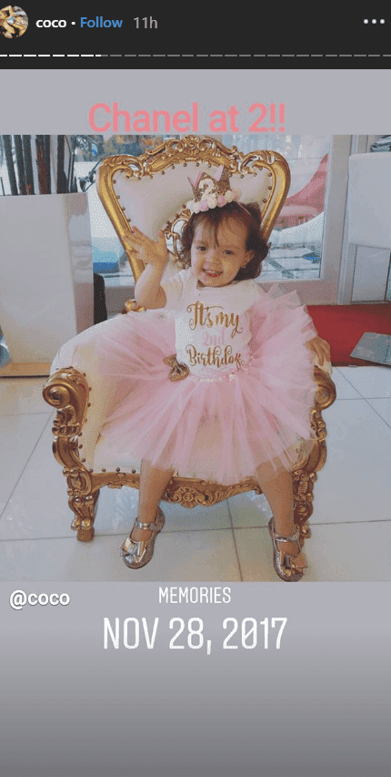 A photo of Chanel during her 2nd birthday | Photo: Instagram/@coco