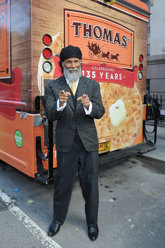 Philip Michael Thomas poses during a celebration of the 135th Anniversary Of Thomas' English Muffins at The Muffin House | Getty Images