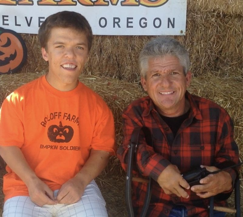"Zach and Matt Roloff from ""Little People Big World"" at the family farm 