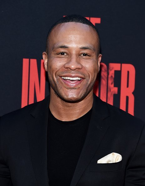 "DeVon Franklin at the Screen Gems premiere of ""The Intruder""in Hollywood, California.