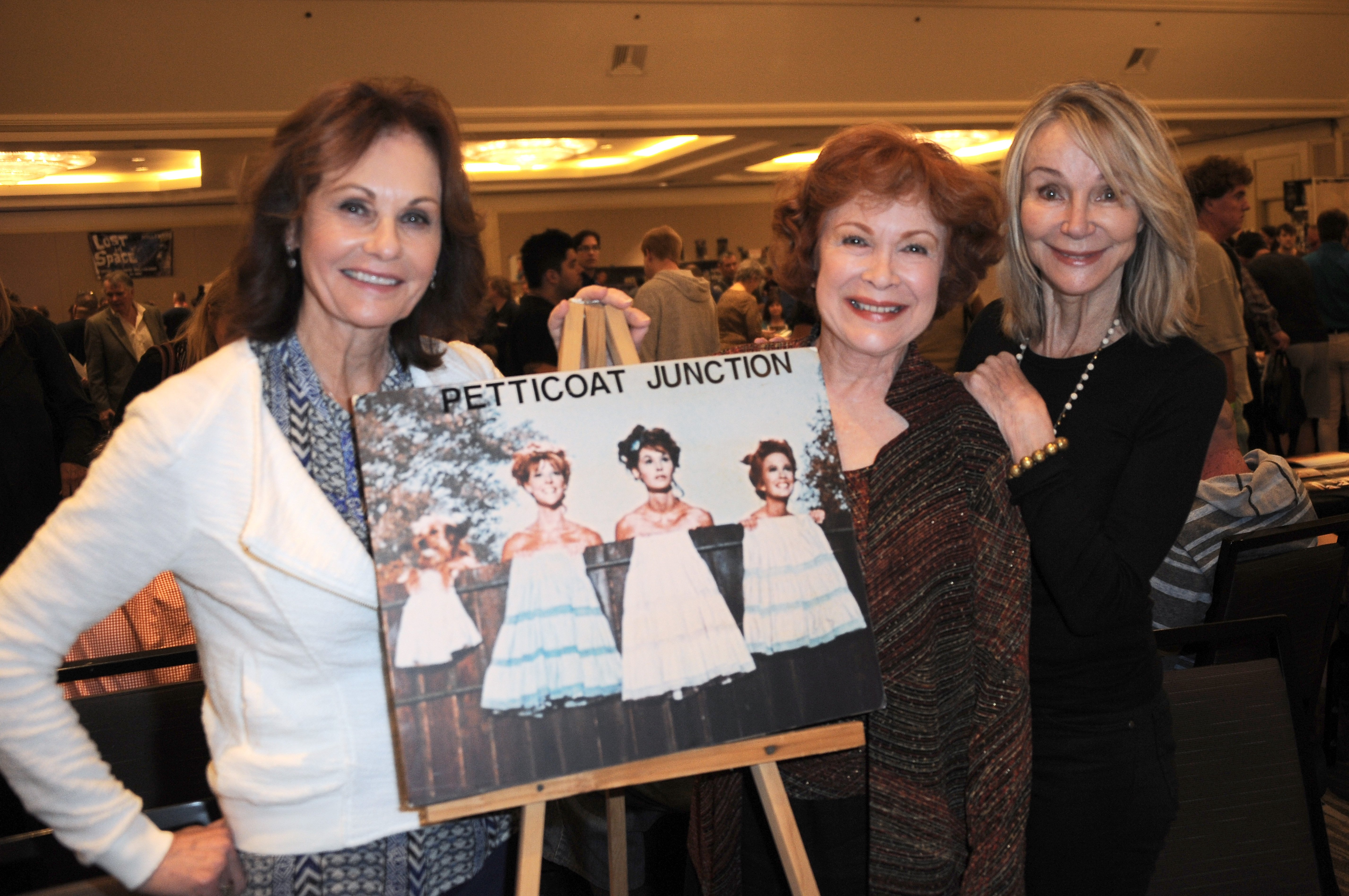 "Actors from ""Petticoat Junction"" Lori Saunders, Linda Henning and Gunilla Hutton at The Hollywood Show  