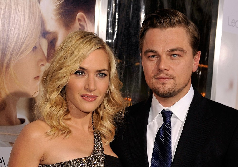 "Kate Winslet and actor Leonardo DiCaprio arrive at the Los Angeles Premiere ""Revolutionary Road"" at the Mann Village Theater on December 15, 2008 