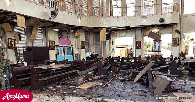 At least 20 people dead after double explosion at Roman Catholic cathedral in the Philippines