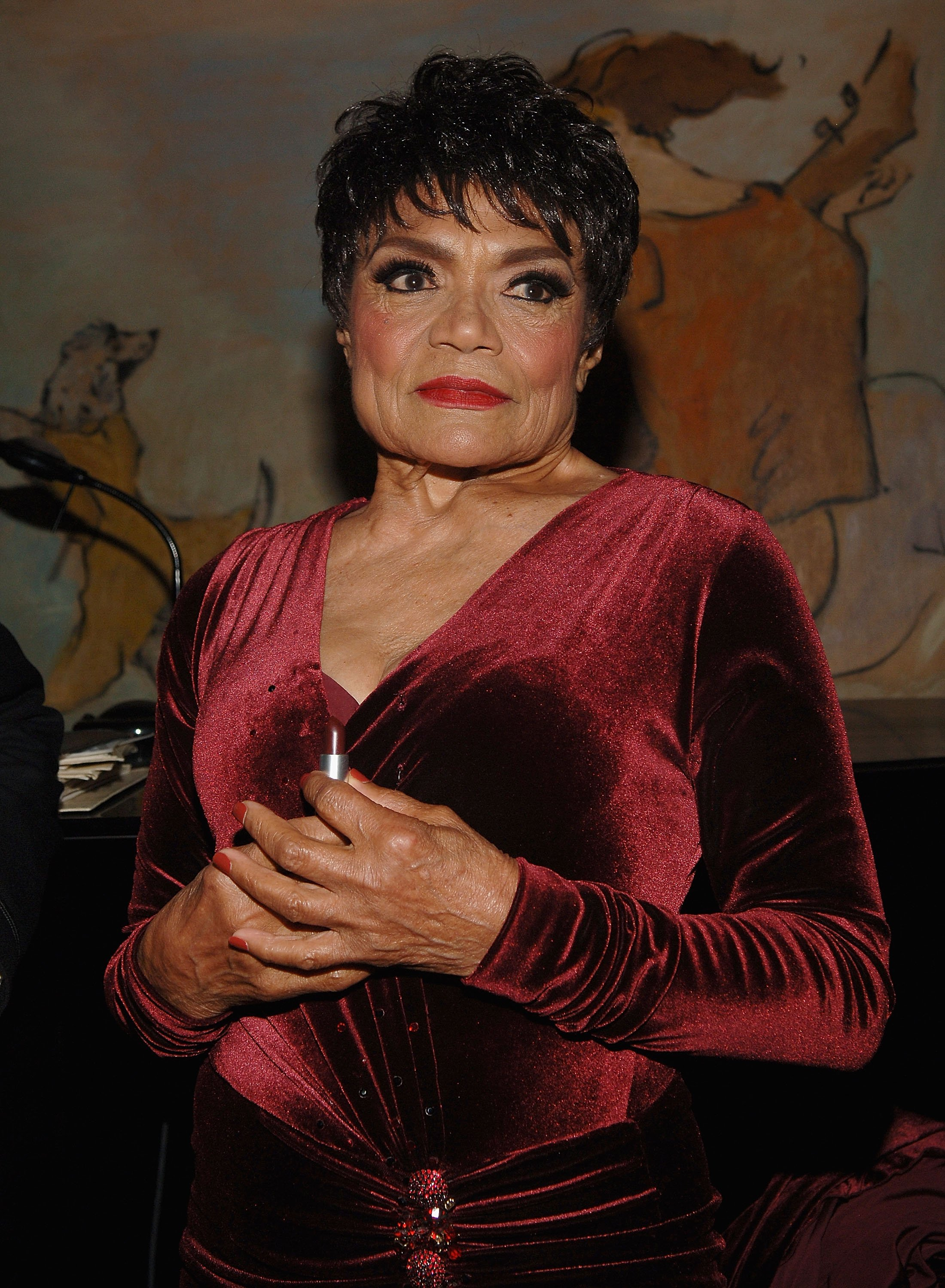 Eartha Kitt at a cocktail party hosted by Mac Cosmetics and Zac Posen in her honor at the Carlyle Hotel in New York City on September 19, 2007   Photo: Getty Images