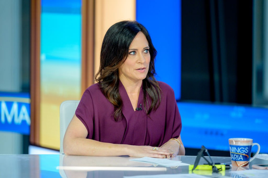 "White House Press Secretary Stephanie Grisham visits ""Mornings With Maria"" with Anchor Maria Bartiromo at Fox Business Network Studios on September 23, 2019 