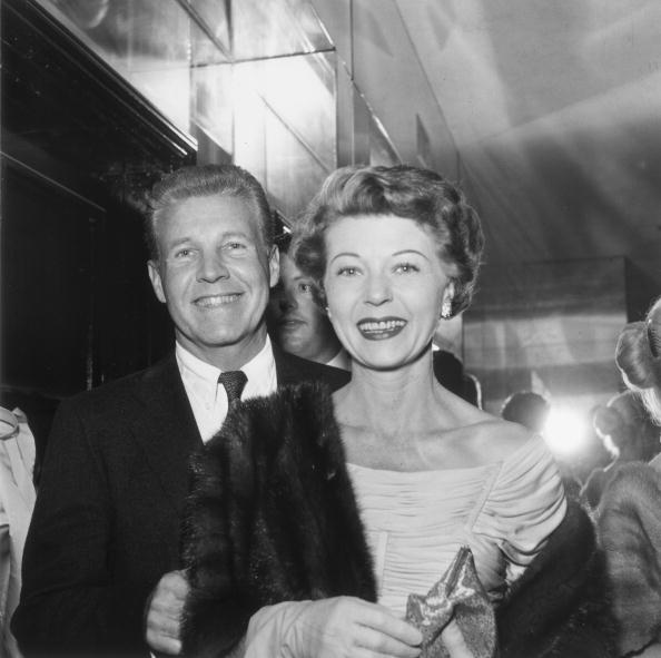 Married American actors Ozzie Nelson (1906 - 1975) and Harriet Hilliard (1909 - 1994), of the television sitcom 'Ozzie and Harriet' attend a Chrysler party in Hollywood, California | Photo: Getty Images