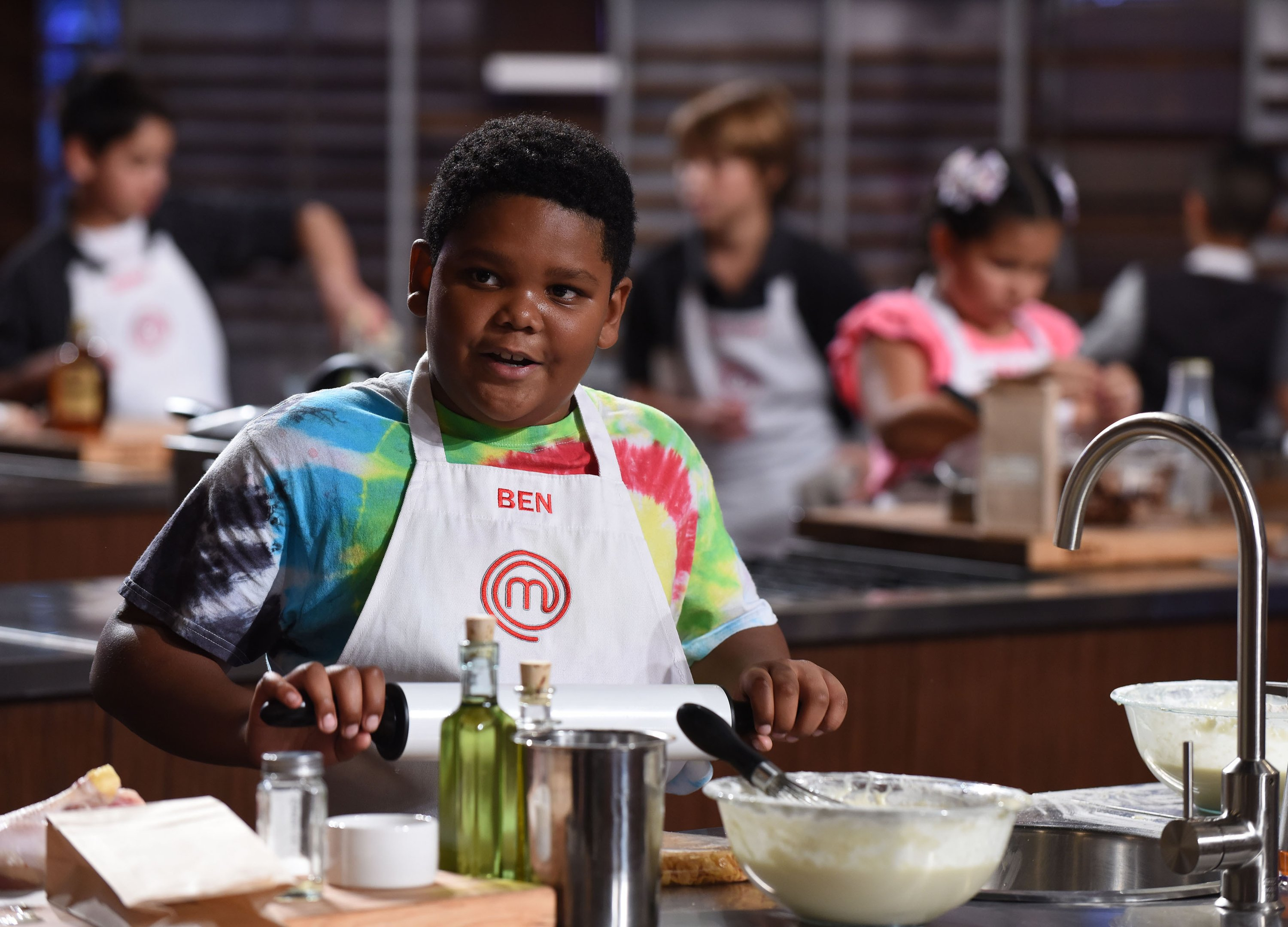 "Ben Watkins pictured during filming for ""MasterChef Junior"" in 2018. 