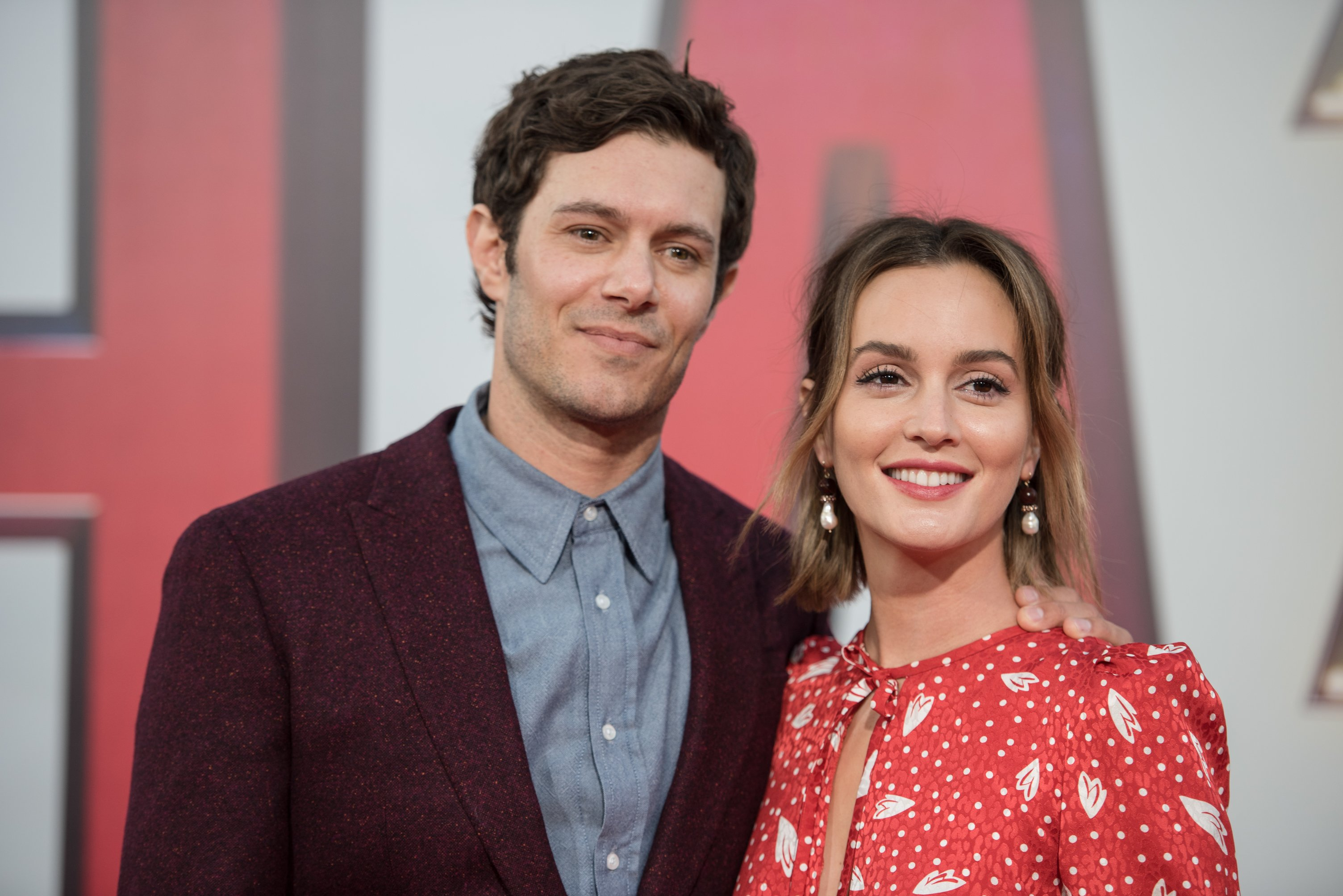 """Adam Brody and Leighton Meester arrive at Warner Bros. Pictures and New Line Cinema's world premiere of """"SHAZAM!"""" at TCL Chinese Theatre on March 28, 2019 in Hollywood, California. 