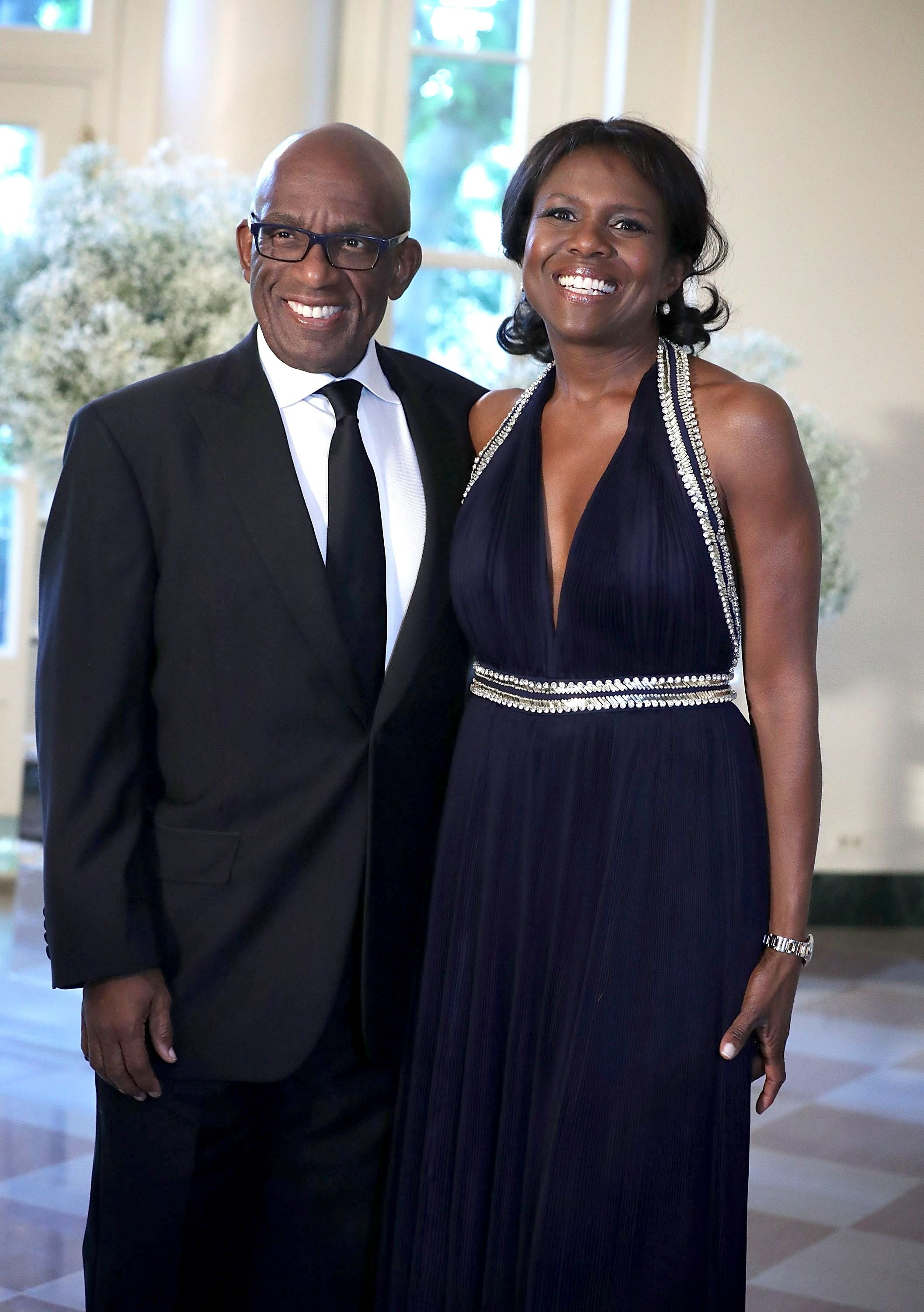 Weather reporter Al Roker and wife Deborah Roberts arrive at the 2016 Nordic State Dinner of former US President Barack Obama in Washington. | Photo: Getty Images
