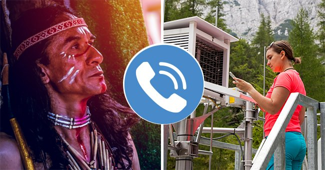 Daily Joke: Indian Chief Calls the Meteorological Center to Find Out If Winter Will Be Cold