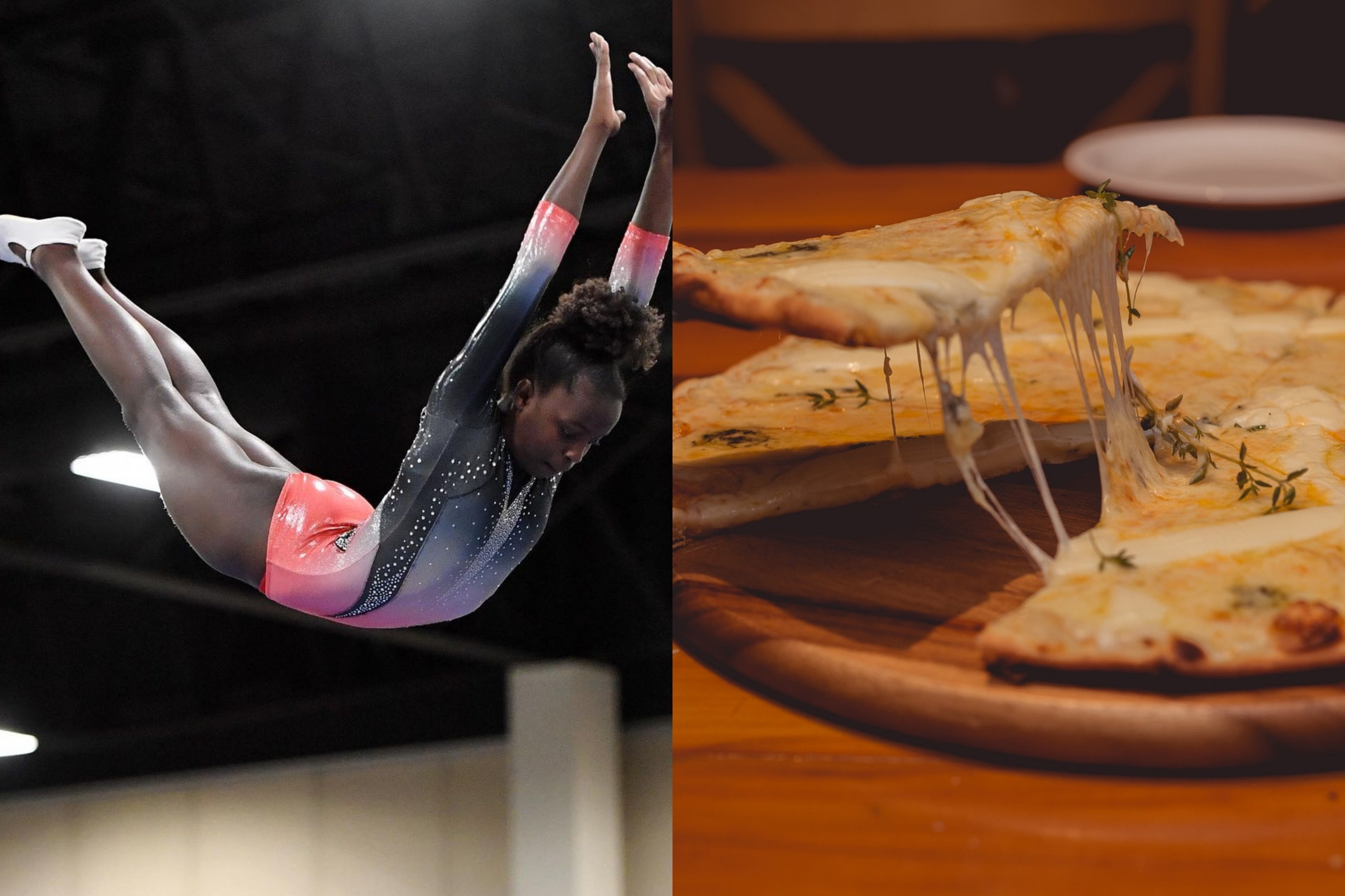 Athlete from USA gymnastics Alongside a Cheese Pizza | Source: Instagram - Unsplash