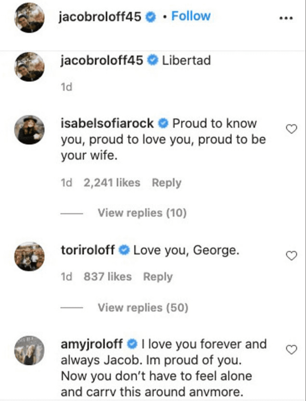 The Roloff family shows Jacob Roloff support after his shocking revelation on December 16, 2020   Photo: Instagram/jacobroloff45