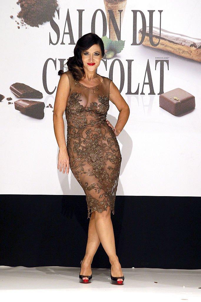 Fabienne Carat au Salon du Chocolat en 2016. l Source : Getty Images