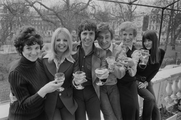 """The cast of the British comedy """"Man About the House"""" circa 1974 