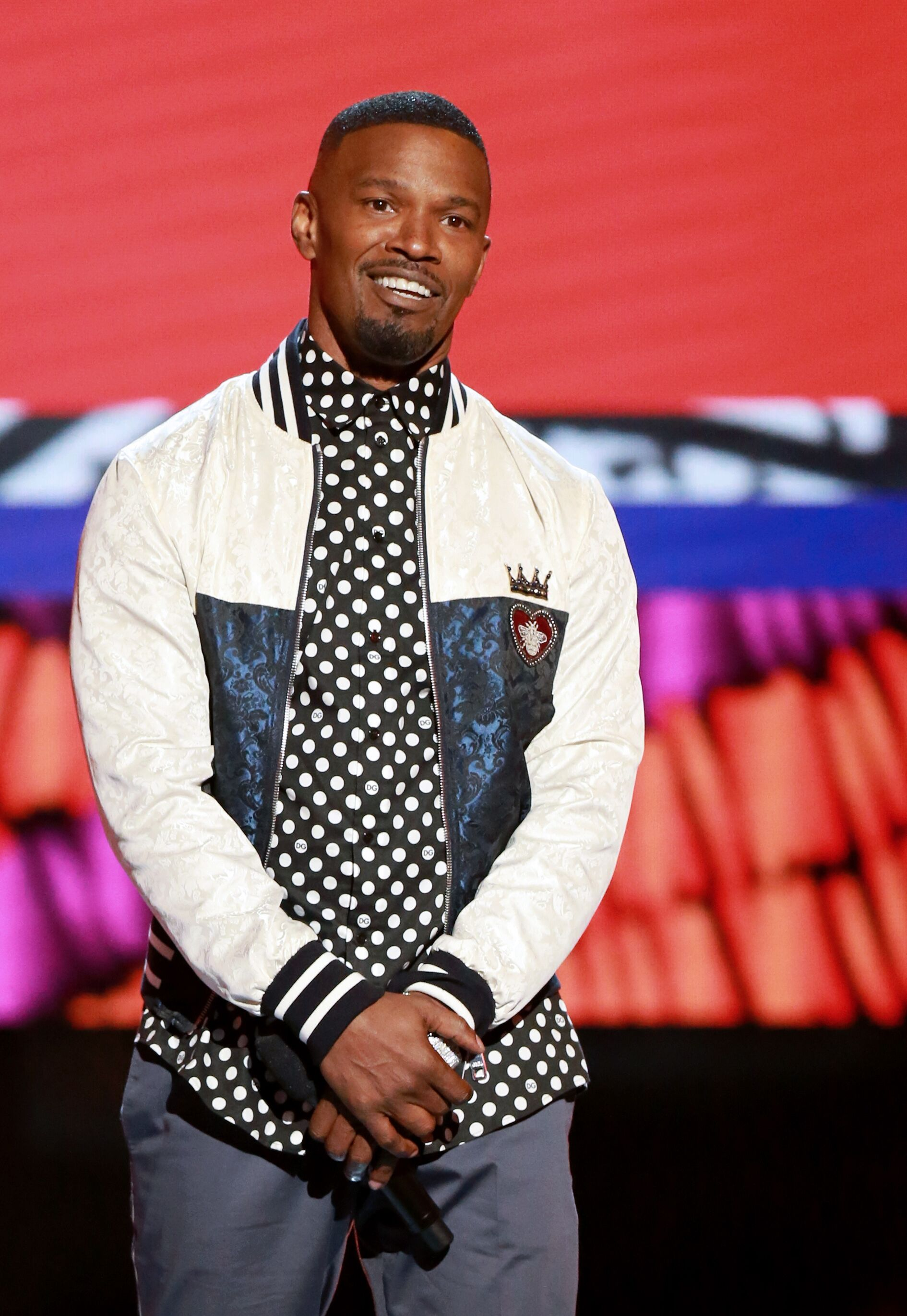 Jamie Foxx speaks onstage at the 2018 BET Awards. | Source: Getty Images